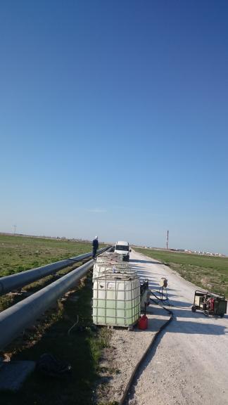 Chemiczne czyszczenie rurociągu DN600 o długości 250 m dla CIECH S.A.