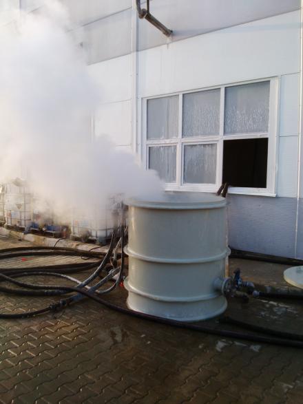 Chemiczne czyszczenie kotła parowego Viessmann Vitomax 5 t pary / h