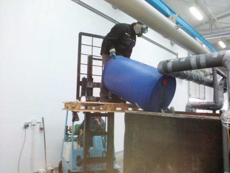 Chemiczne czyszczenie układu chłodzenia maszyny GHIOLDI