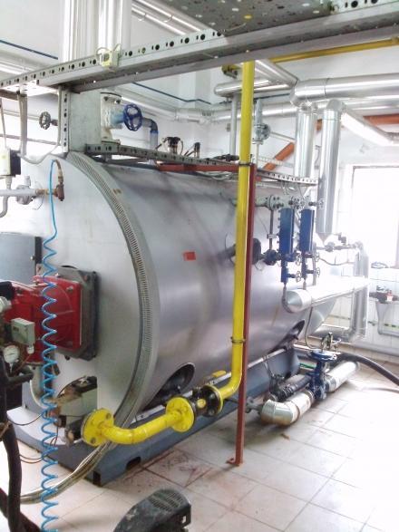 Chemiczne czyszczenie kotła parowego Viessmann Vitomax 200 z osadu kamienia o zawartości żelaza aż 65,4%