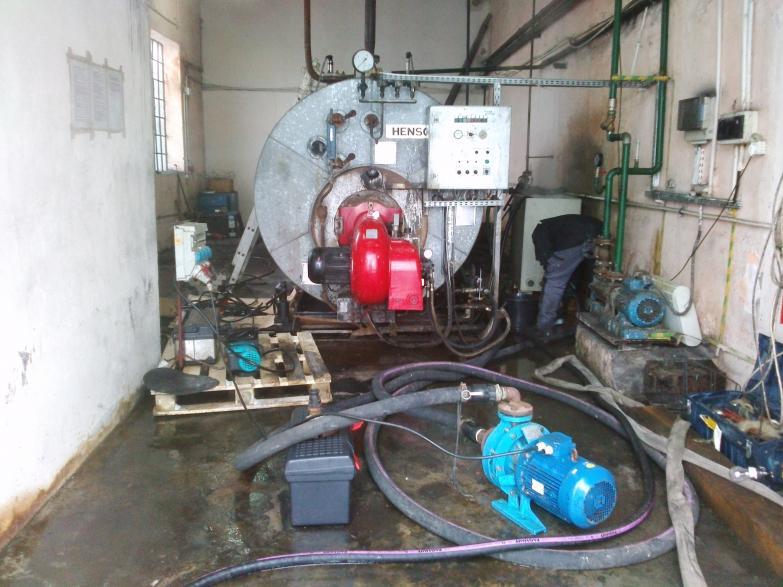 Chemiczne czyszczenie kotła parowego THYSSEN  HENSCHELL KESSEL 2,5 t pary / h