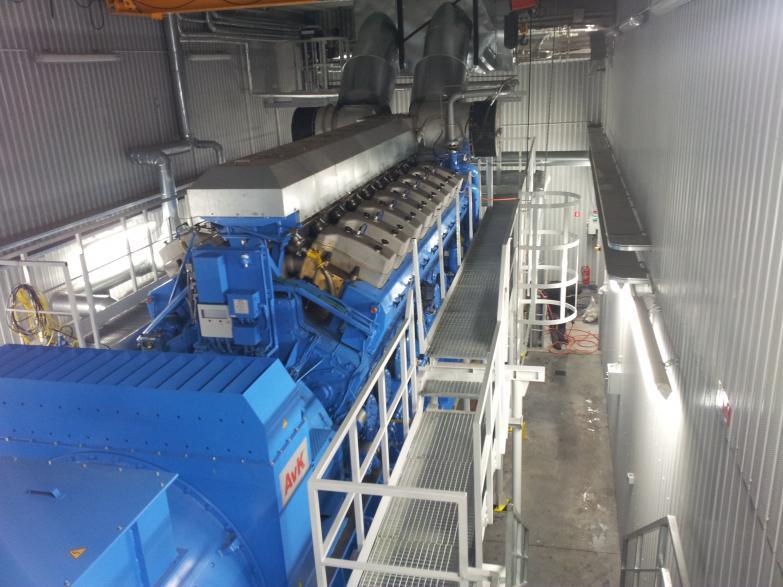 Czyszczenie układu chłodzenia silnika elektrowni kogeneracyjnej