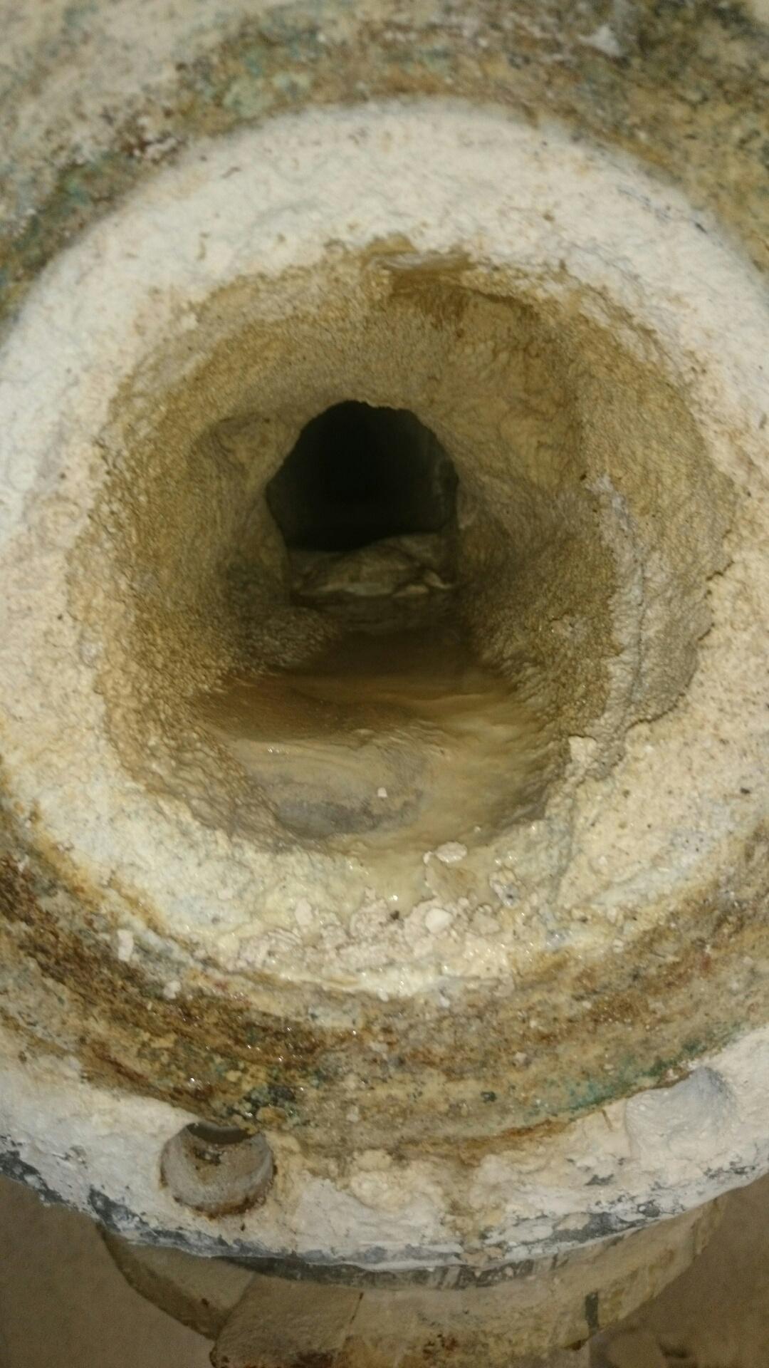 Stan rurociągu przed czyszczeniem